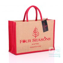GJ019 Four Seasons swing tag jute bag