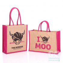 The McMoos artist canvas jute bags