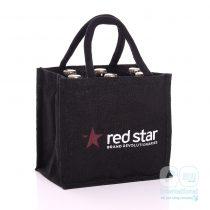 GJ8BB Red Star event beer bottle jute bags