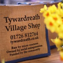 Tywardreath Village Shop jute bag