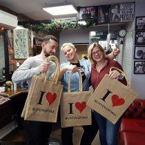Millfield-PTA sponsored jute bags