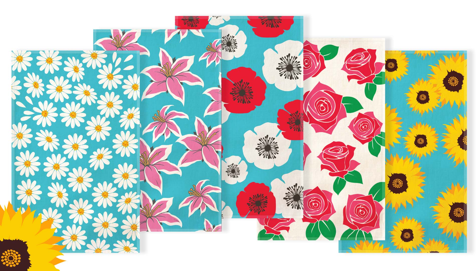 floral tea towels Offer