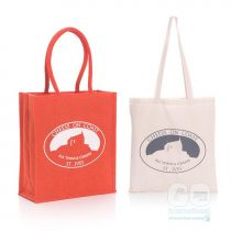 Cheese on Coast Jute and Cotton Bags