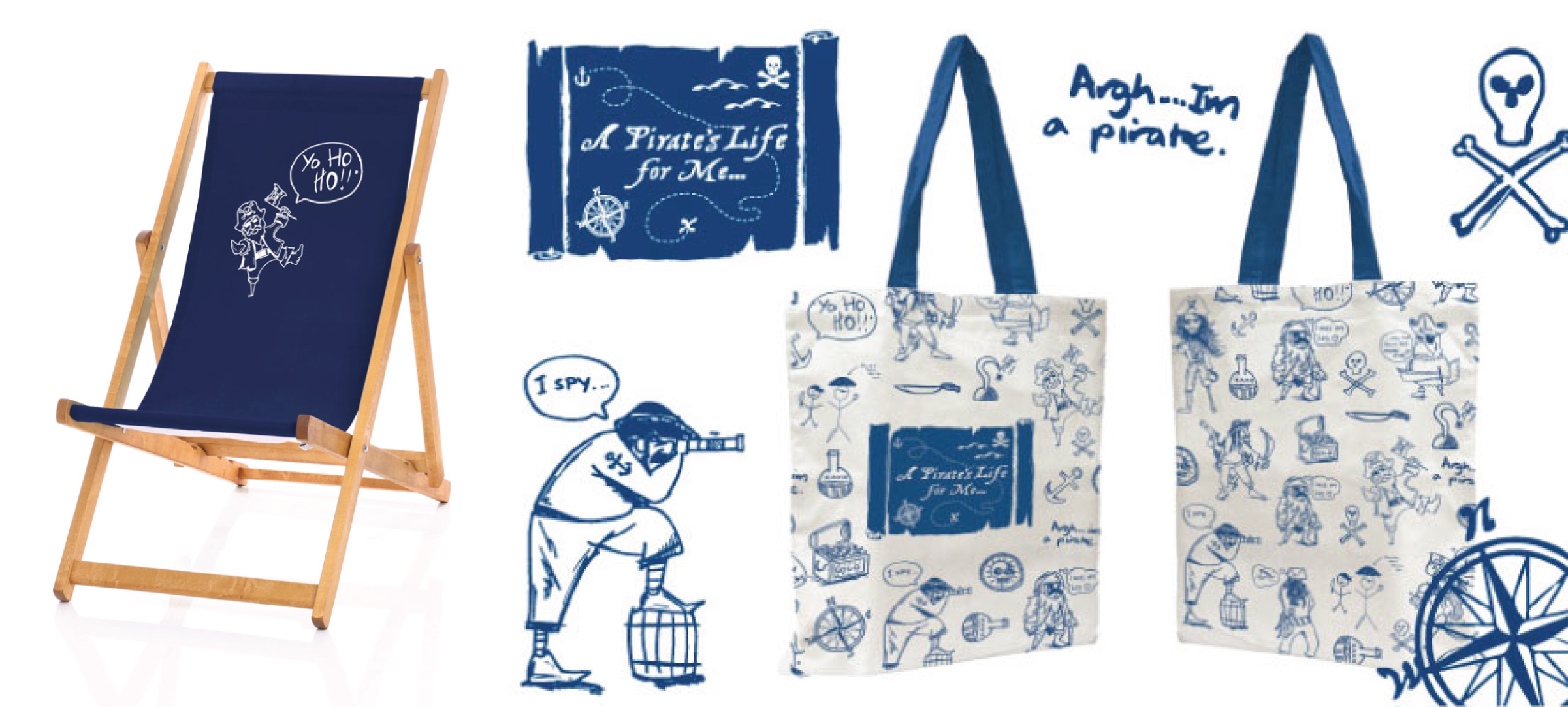 Pirate Deckchairs Bags Offer