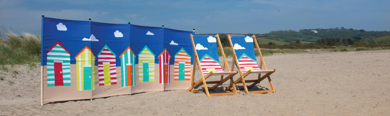 Wholesale Windbreaks and Deckchairs Beach Huts