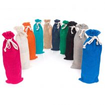 single wine bottle jute sacks in a range of colours