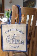 Duporth Lodge Branded Jute Bag