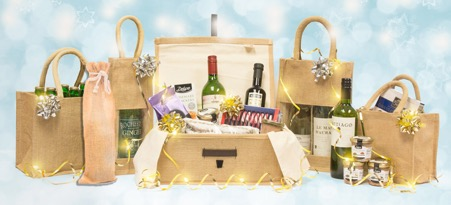 Christmas Hamper and Wine Bottle Bags