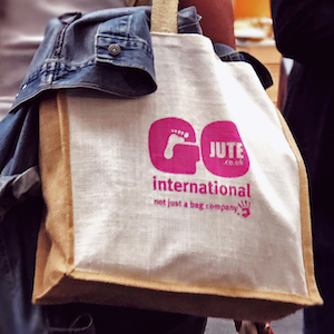 official speciality fine food fair jute bag