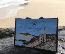 Cornish Gems Holidays Jute Bags