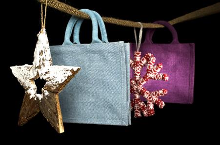 jute bags for Christmas