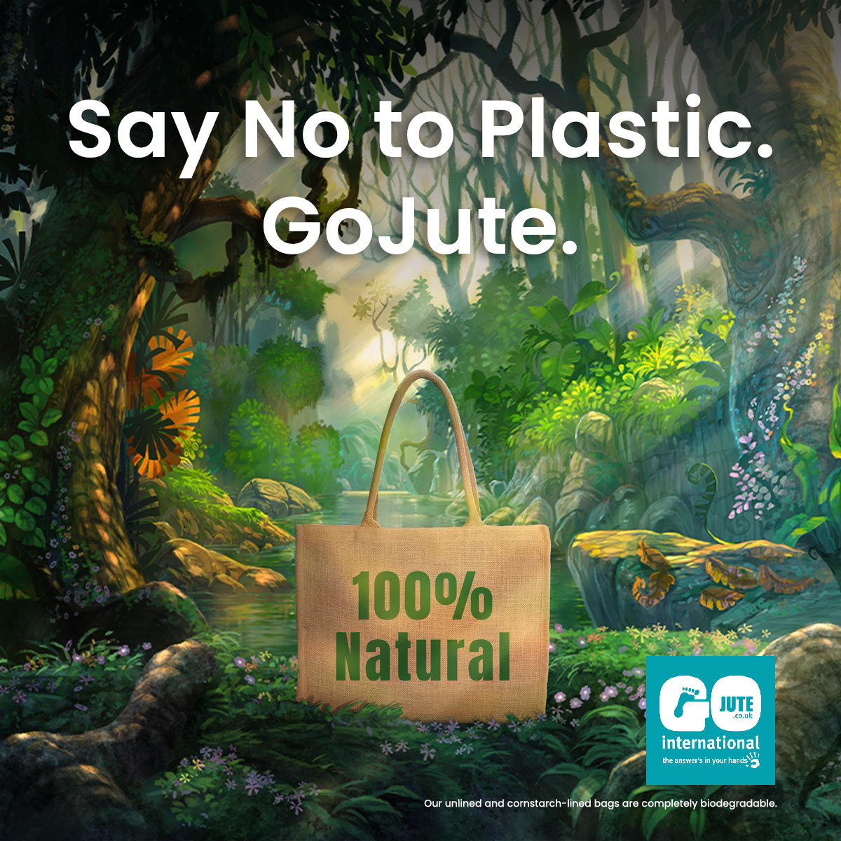 Say No to Plastic. GoJute.