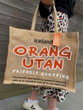 Iceland Orangutan Jute Bag