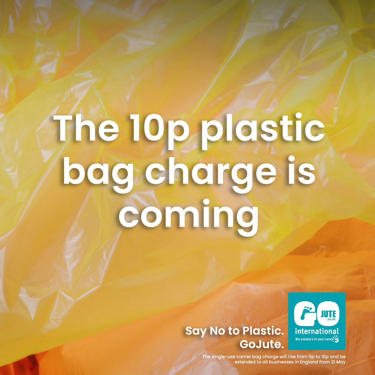 The 10p plastic bag charge is coming